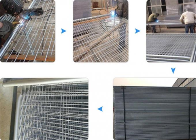Galvanized Temporary Construction Fence , Temporary Site Security Fencing 1100mm Height