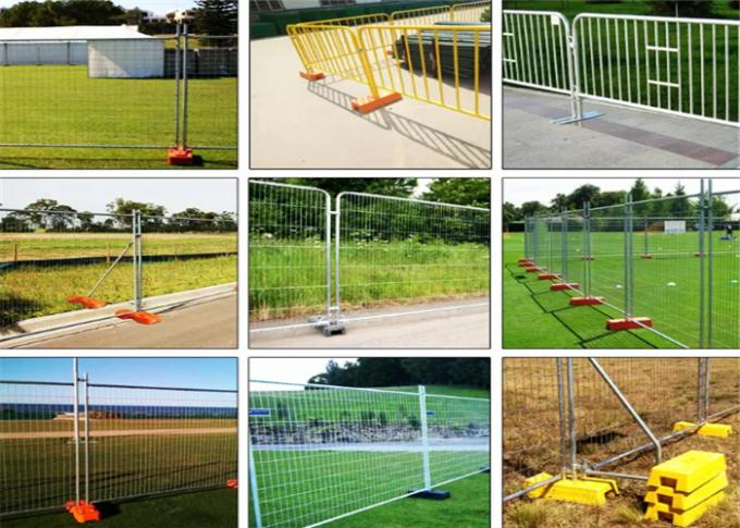 Hot Dipped Galvanized Temporary Event Fencing Durable 2.1*2.4m For Safety