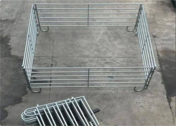 Square rail 2.1*1.8m metal cattle yards gate panel for farm fence